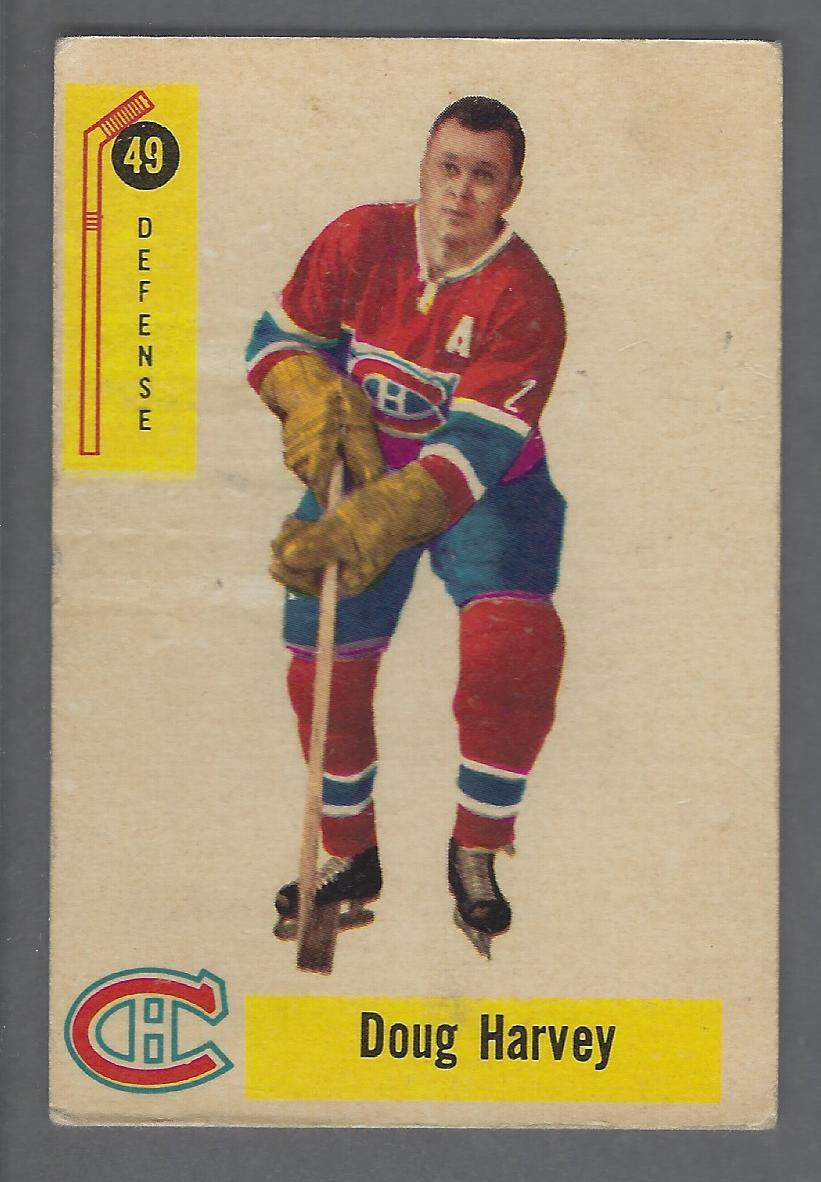 reputable site ca9f7 2f085 Details about 1958-59 Parkhurst Montreal Canadiens Hockey Card #49 Doug  Harvey